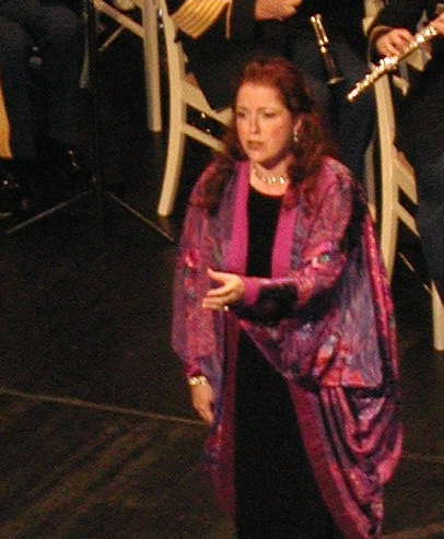 "Singing ""Un bel di"" on the stage of the Rokoko Theatre, Schwetzingen, Germany"